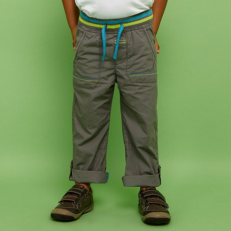bluezoo - Boy+s grey multi waistband casual trousers
