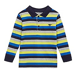 bluezoo - Multi-coloured striped long sleeved polo shirt