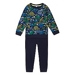 bluezoo - Boys' blue dinosaur print sweatshirt and jogger set
