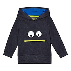 bluezoo - Boys' blue silly face hoodie