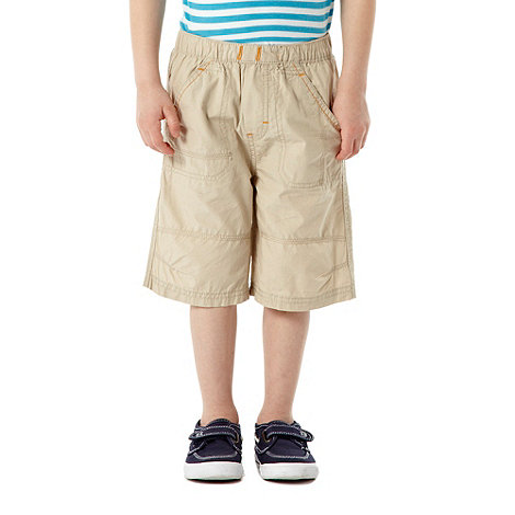 bluezoo - Boy+s pack of two natural and navy woven shorts