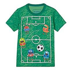 bluezoo - Boys' green football pitch print t-shirt