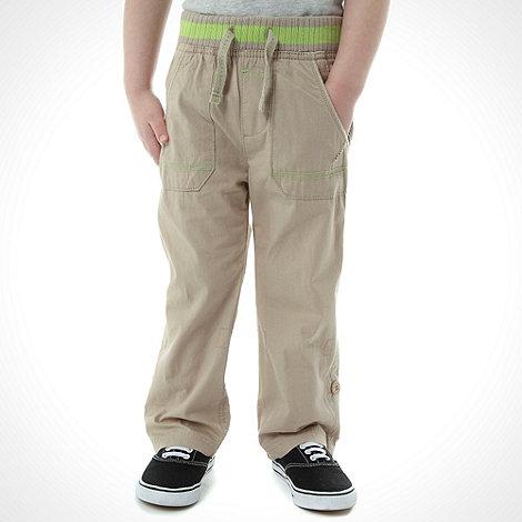 bluezoo - Boy+s beige poplin trousers