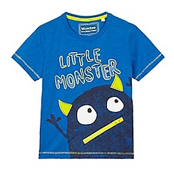 bluezoo - Boys' blue 'Little monster' printed top