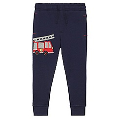 bluezoo - Boys' navy fire engine applique jogging bottoms