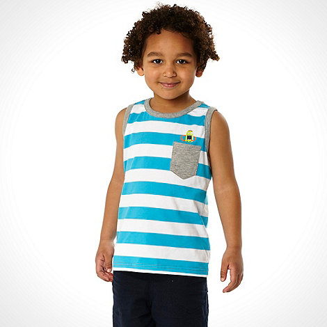 bluezoo - Boy+s pack of two patterned vest tops