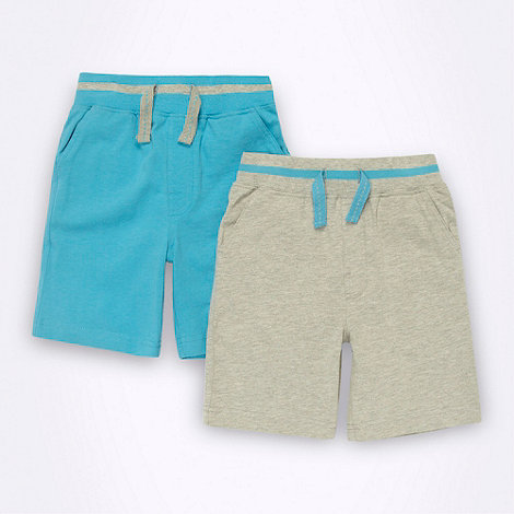 bluezoo - Boy+s blue 2pack jersey shorts