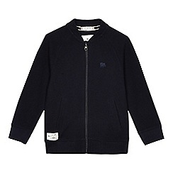 J by Jasper Conran - Boys' navy pique jersey bomber jacket