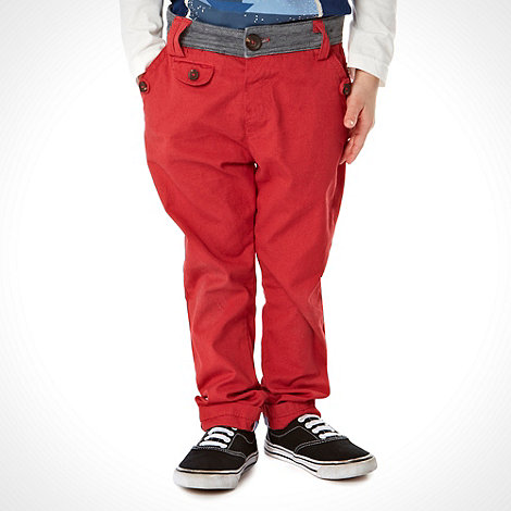 J by Jasper Conran - Designer boy+s red jersey waistband chinos