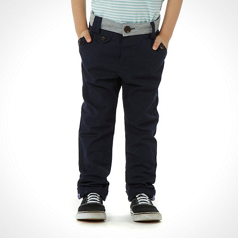 J by Jasper Conran - Designer boy+s navy jersey waistband chino trousers