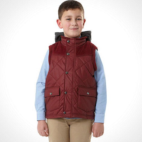 J by Jasper Conran - Designer boy+s red hooded gilet