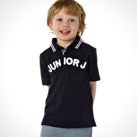 J by Jasper Conran - Designer boy+s navy logo polo shirt