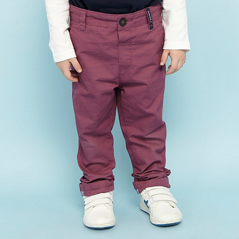 J by Jasper Conran - Designer boy+s red classic chinos