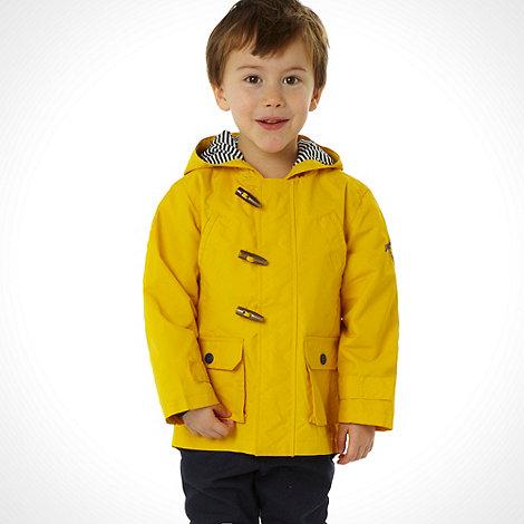 J by Jasper Conran - Designer boy+s yellow lightweight duffle coat