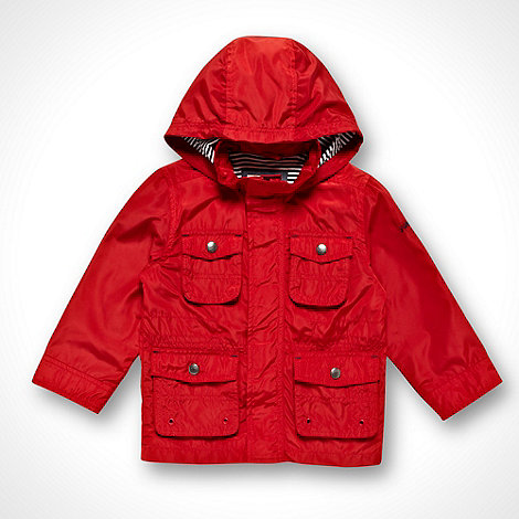 J by Jasper Conran - Designer boy+s red hooded windbreaker jacket