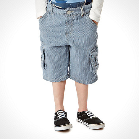 J by Jasper Conran - Designer boys blue striped denim shorts
