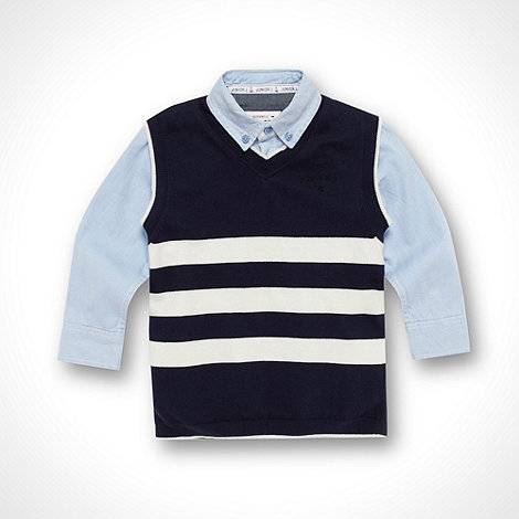 J by Jasper Conran - Designer boy+s blue two set tank top and shirt