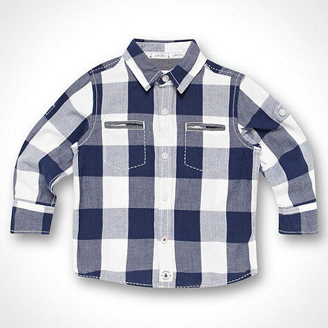 J by Jasper Conran - Designer baby+s navy gingham checked shirt