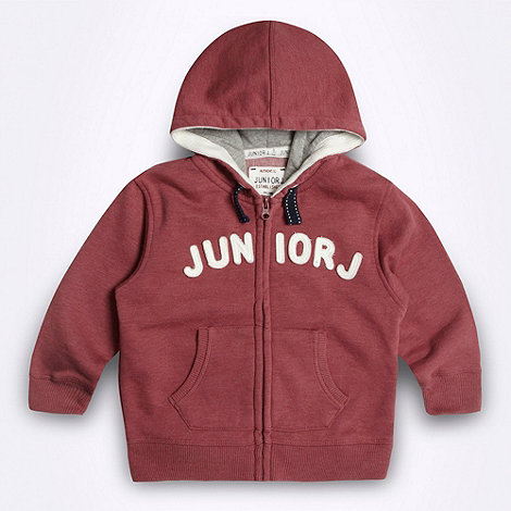 J by Jasper Conran - Designer boy+s red logo sweat hoodie