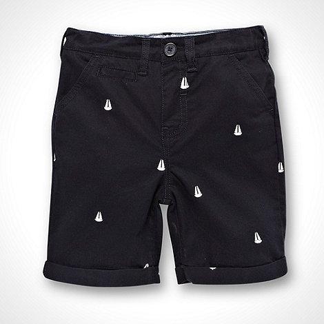 J by Jasper Conran - Designer boy+s navy sailing boat embroidered shorts
