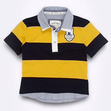 J by Jasper Conran - Designer boy+s multi striped dual collar polo shirt