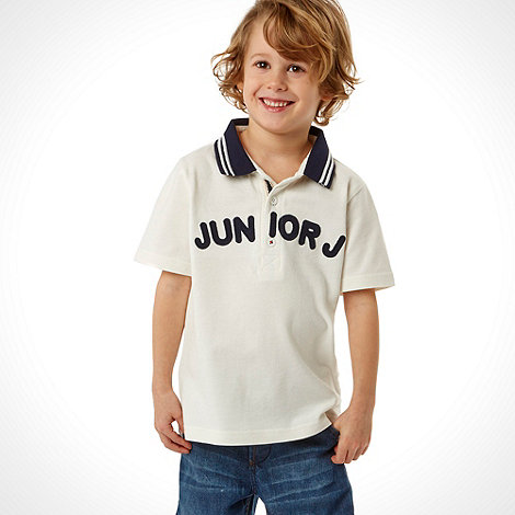 J by Jasper Conran - Designer boy's white logo polo shirt