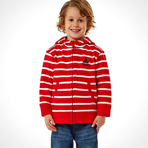 J by Jasper Conran - Designer boy+s red striped hoodie