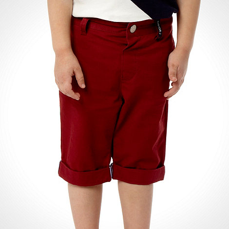 J by Jasper Conran - Designer boy+s red chino shorts
