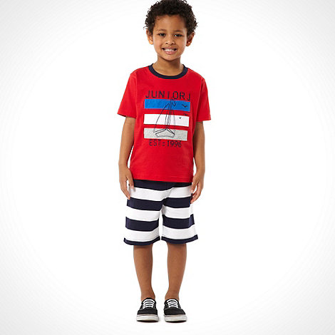 J by Jasper Conran - Designer red patch t-shirt and shorts