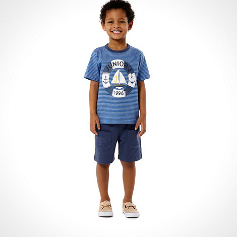 J by Jasper Conran - Designer boy+s blue t-shirt and shorts set