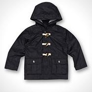Designer boy's navy two pocket coat