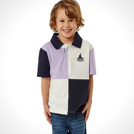 J by Jasper Conran - Designer boy+s lilac harlequin polo shirt