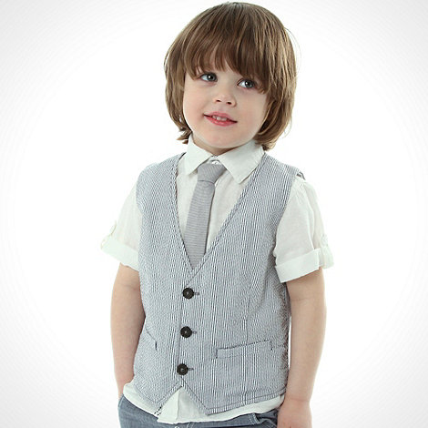 J by Jasper Conran - Designer boy+s white linen shirt and waistcoat set