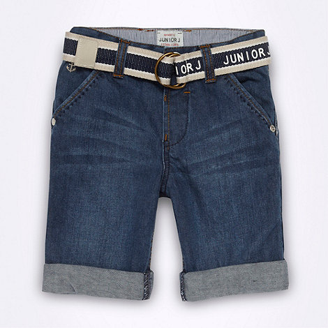 J by Jasper Conran - Designer boy+s blue denim shorts