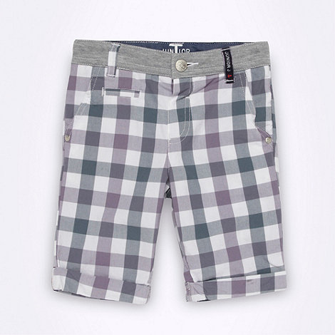 J by Jasper Conran - Designer boy+s grey checked shorts