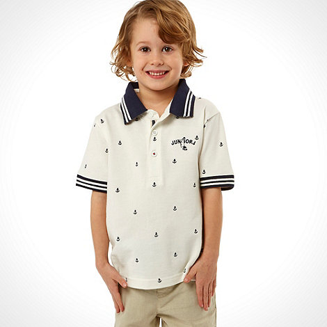 J by Jasper Conran - Designer boy+s white embroidered boat polo shirt