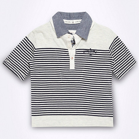 J by Jasper Conran - Designer boy+s navy striped polo shirt