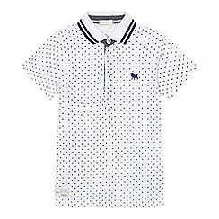 J by Jasper Conran - Boys' white spotted pique polo shirt