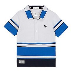 J by Jasper Conran - Boys' white and blue polo shirt