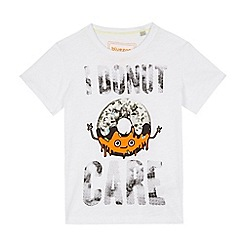 bluezoo - Boys' white 'I Donut Care' t-shirt