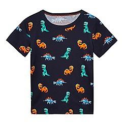 bluezoo - Boys' navy dinosaur print t-shirt