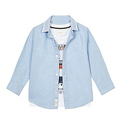 J by Jasper Conran - Boys' blue fish print shirt and t-shirt set