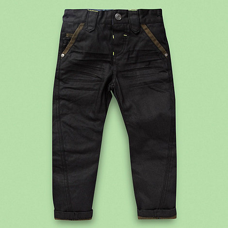 RJR.John Rocha - Designer boy+s navy turn up jeans
