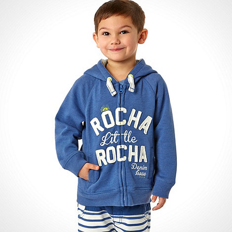 RJR.John Rocha - Designer boy+s blue zip through hoodie