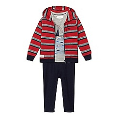 J by Jasper Conran - Boys' navy jacket, t-shirt and jogging bottoms set