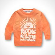 Designer Boy's orange sweater