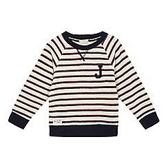 J by Jasper Conran - Boys' navy crew neck striped sweater