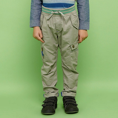 RJR.John Rocha - Designer boy+s grey ribbed waist casual trousers