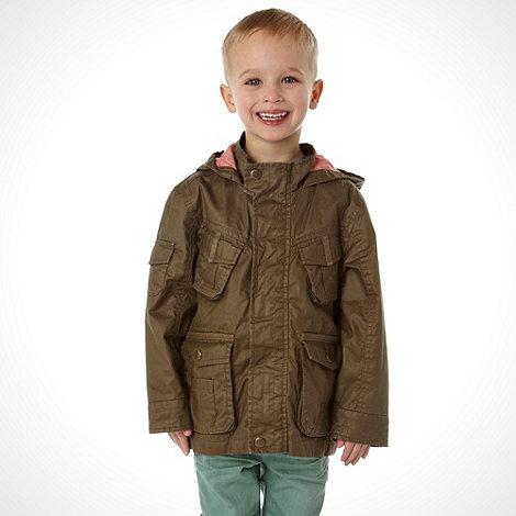 RJR.John Rocha - Designer boy+s khaki lightweight hooded parka