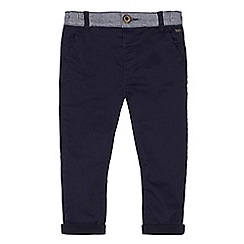 J by Jasper Conran - Boys' navy rolled up jersey lined chinos